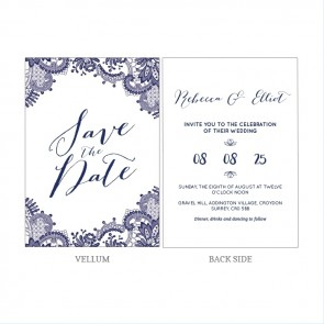 Blue Lace Vellum Invitation