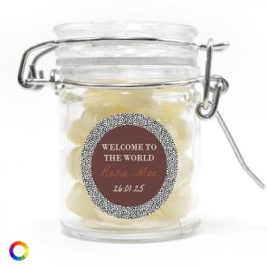 weck jar baby shower favour Dotted World