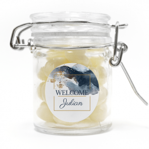 weck jar baby shower favour Gold Watercolour