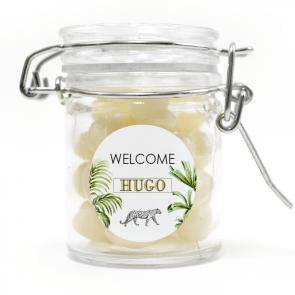 weck jar baby shower favour Safari Animals