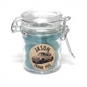 Big News weck jar baby shower favour
