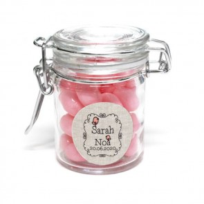 Little Bird baby shower weck jar