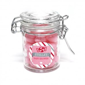 Sweet Candy weck jar baby shower favour