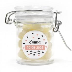 heart dots wedding favour weck jar