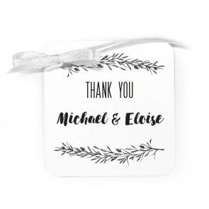 Mistletoe Wedding Tag