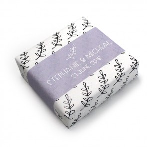 Wedding Favour Soap Lavender Pattern