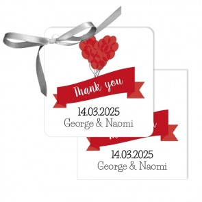 Balloon Design Wedding Tags