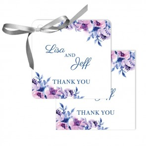 Cosy Purple Wedding Tags wedding favours