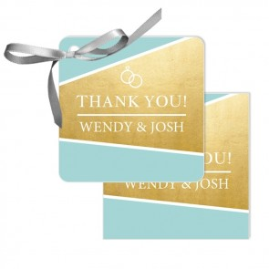 Gold Foil Wedding Tags wedding favours