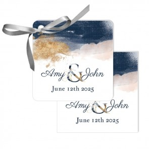 Gold Watercolour Wedding Tags wedding favours