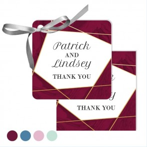 Bordeaux Lines Wedding Tags wedding favours