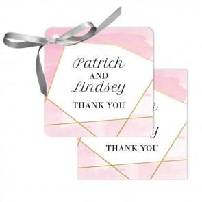 Lines Wedding Tags