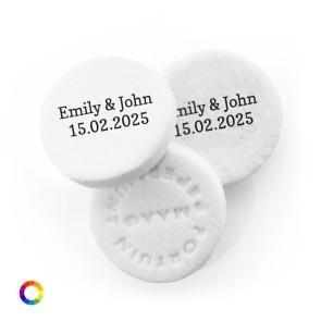 Big Mints Names wedding favours