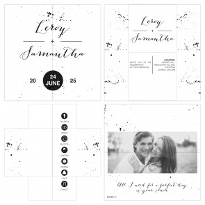 Classic Wedding Turning Card Wedding Invitation