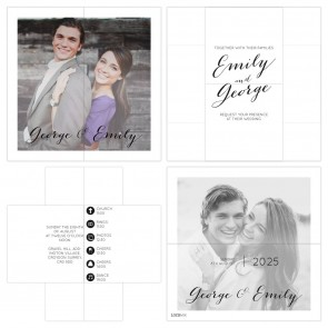 Turning Card Wedding Invitation Picture Perfect