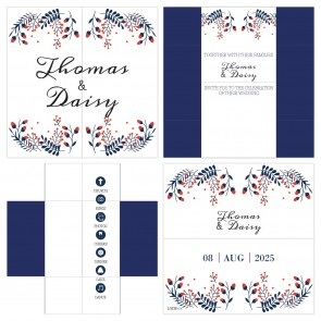 Winter Wedding Turning Card Wedding Invitation