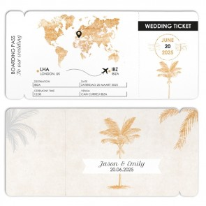 wedding favour boarding pass Quiet Clearing