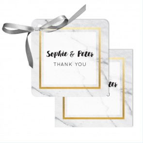 Marble & Gold Wedding Tags