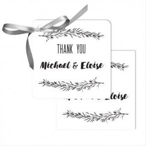 Mistletoe Wedding Tags