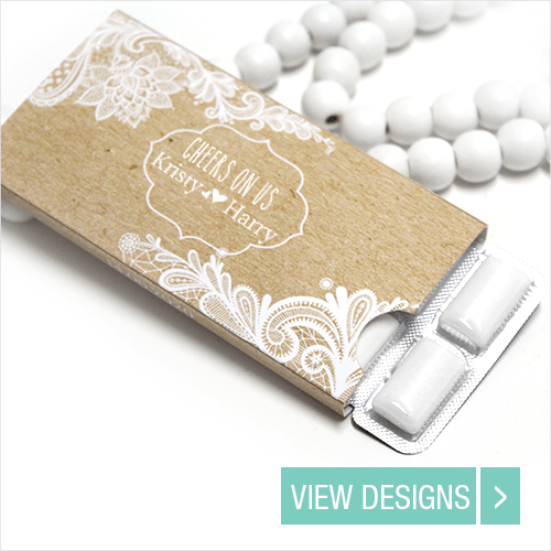 Wedding Favours: Personalised Chewing gum