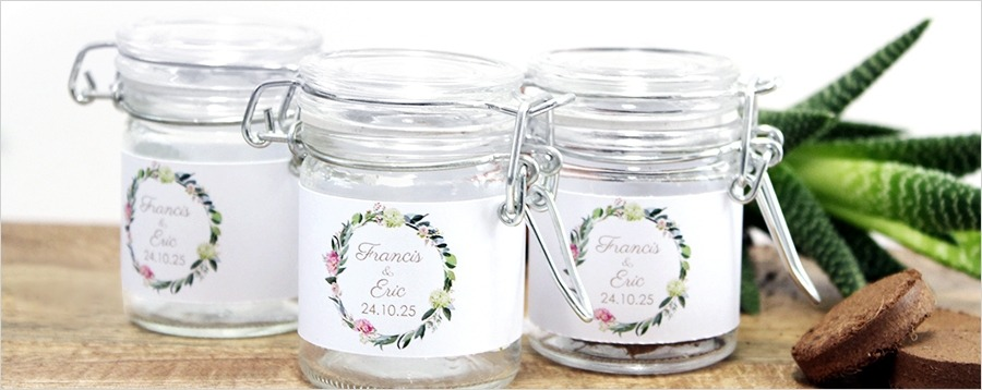 green-weckjar-wedding-favour