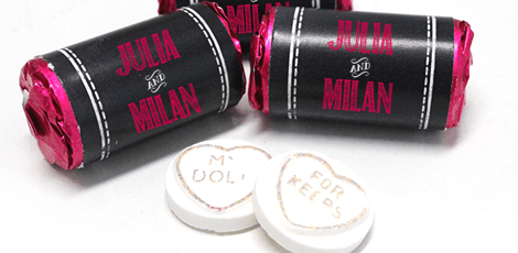 chalk love sweets favours