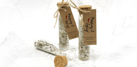 herbal gift tubes with personal label