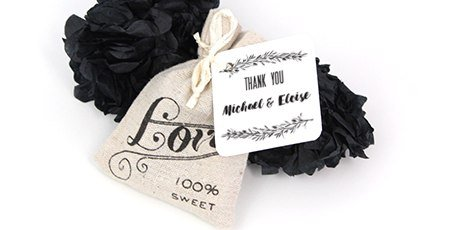 love-print-favour-bag-personalised-mistletoe-tag