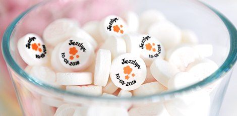 custom printed baby shower mints
