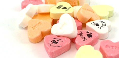 custom printed baby shower candy hearts