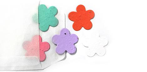 personalised card for your plantable seed paper confetti