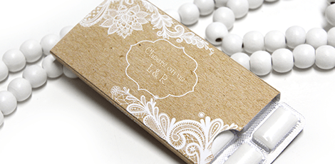 vintage lace design Wedding gum
