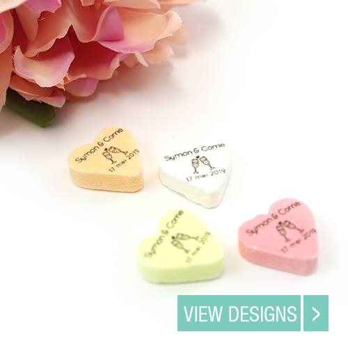 Wedding Favours: Personalised Candy Heart Favourd