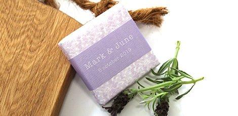 floral soap favour