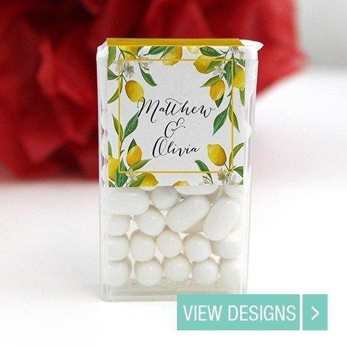 Tic Tac Mint wedding favours