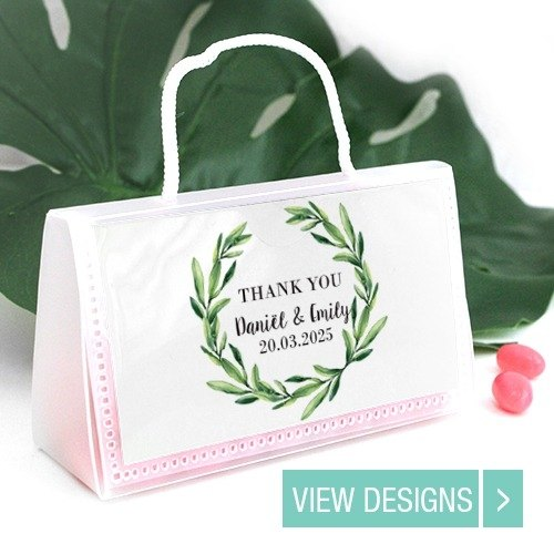Personalised Wedding purse favour bags