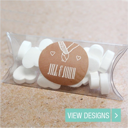 Wedding Favours: Personalised Pillow Box Favour