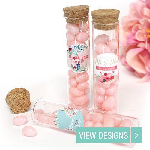 wedding favour tubes
