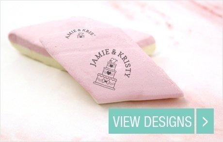 Wedding sweet table favours: Custom printed Marshmallows alt=